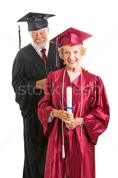 Altos posgrado profesor aislado mujer Foto stock © lisafx