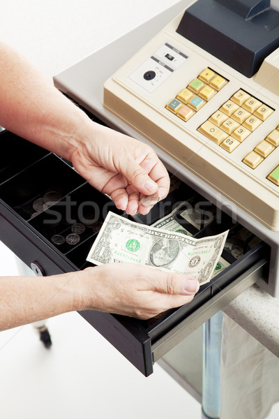 Cash Register - Small Change Stock photo © lisafx