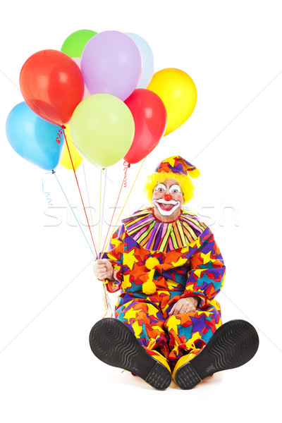 Stock photo: Clown with Big Feet and Balloons