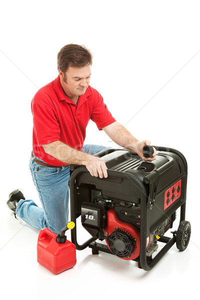 Catastrophe générateur homme fluide gaz électricité Photo stock © lisafx