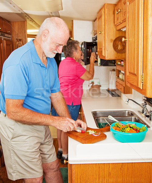 RV Seniors Making Dinner Stock photo © lisafx