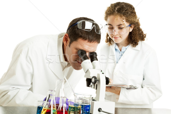 Scientist and College Intern Stock photo © lisafx