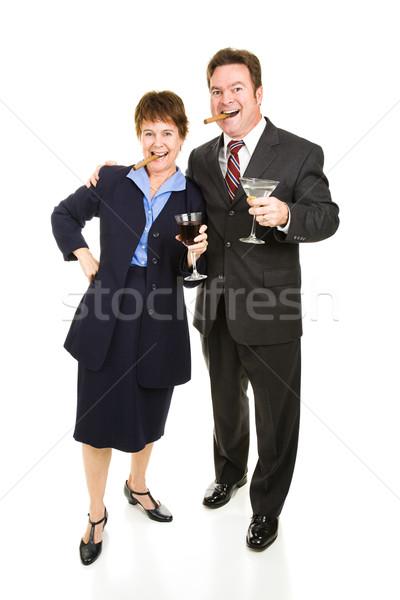 Wall Street winnaars vieren succes sigaren Stockfoto © lisafx