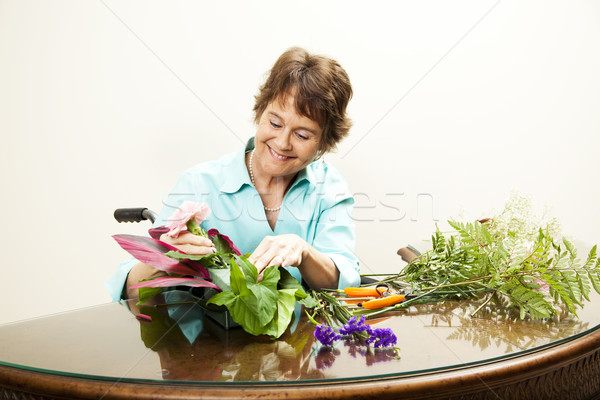 Disabled Florist with Copyspace Stock photo © lisafx