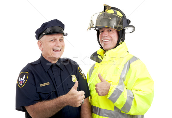 Blue Collar Heroes - Thumbsup Stock photo © lisafx