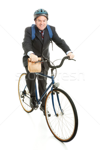Businessman Bicycles to Work Stock photo © lisafx