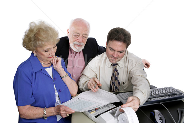 Accounting Series - Seniors & Taxes Stock photo © lisafx
