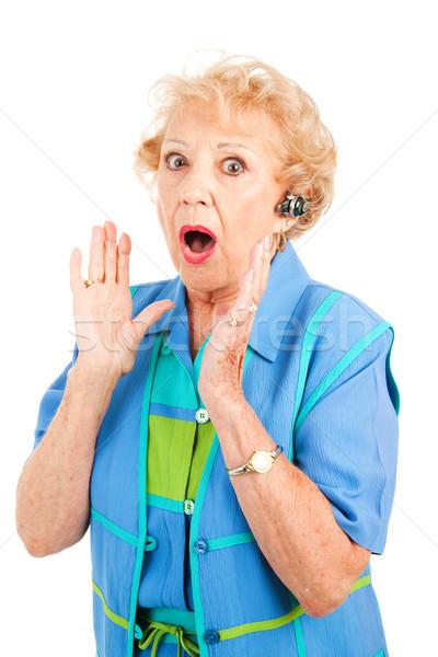 Cellphone Senior Woman - Gossip Stock photo © lisafx