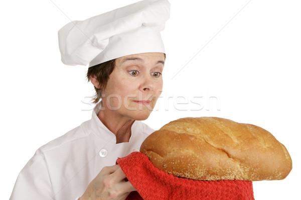 Chef Series - Admiring Bread Stock photo © lisafx