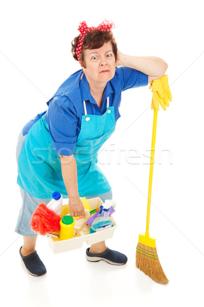 Cleaning Lady - Exhausted Stock photo © lisafx