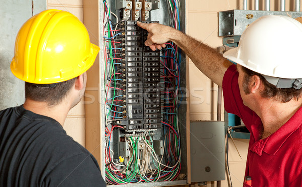 Electricians Replace 20 Amp Breaker Stock photo © lisafx