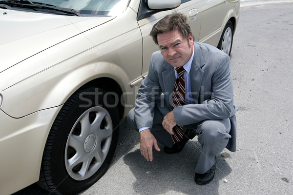 Stock photo: Flat Tire - Oh No