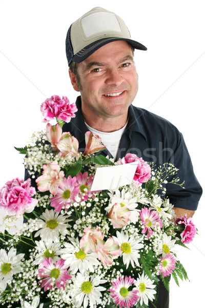 Friendly Flower Delivery Stock photo © lisafx