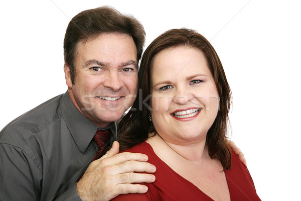 Happy Couple in Red Stock photo © lisafx