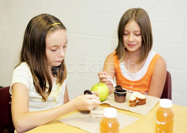 School Lunch - Girls Table Stock photo © lisafx