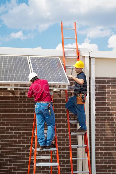 Solar Energy Installation Stock photo © lisafx