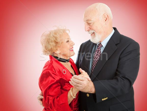 Valentine kıdemli dans seven yaşlılar çift Stok fotoğraf © lisafx