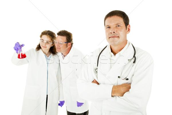Médicaux chef d'équipe médecin deux laboratoire isolé Photo stock © lisafx