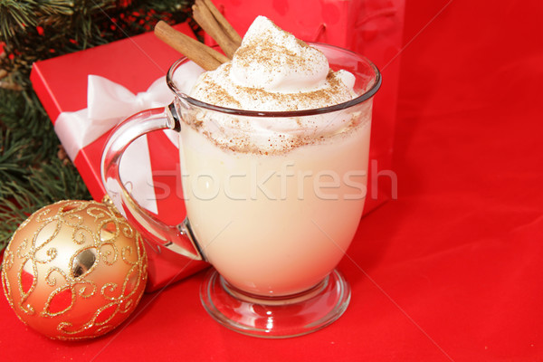 Holiday Eggnog with Copyspace Stock photo © lisafx