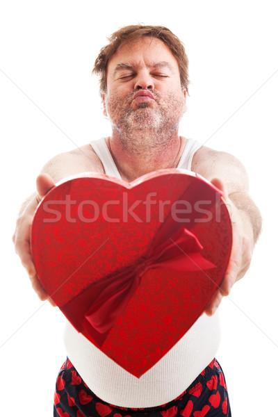Retkes Valentin nap fickó kész csók humoros Stock fotó © lisafx