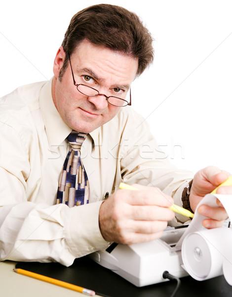 бухгалтер дружественный компетентный бизнеса деньги человека Сток-фото © lisafx