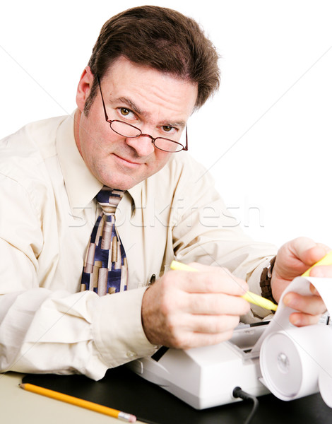 Contador amistoso competente negocios dinero hombre Foto stock © lisafx