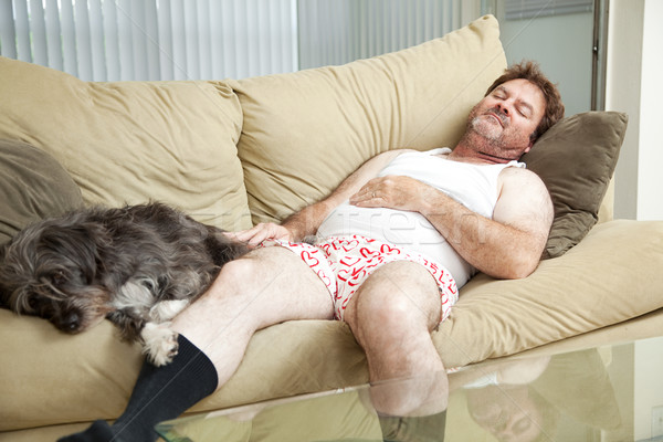 Man Asleep with His Dog Stock photo © lisafx