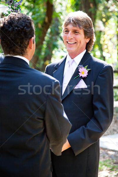 Matrimonio gay bello lo sposo vita partner outdoor Foto d'archivio © lisafx