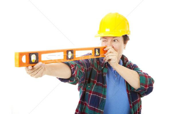 Female Construction Worker - Level Stock photo © lisafx