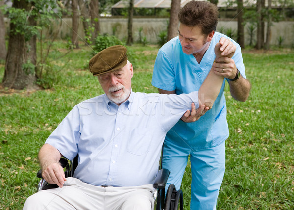 Physical Therapy Outdoors Stock photo © lisafx