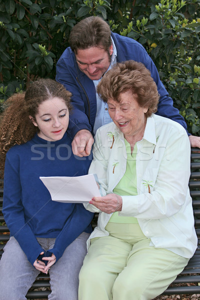 Reading Good News Together Stock photo © lisafx