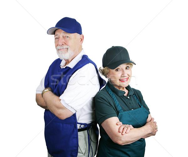 Senior Working Couple Stock photo © lisafx