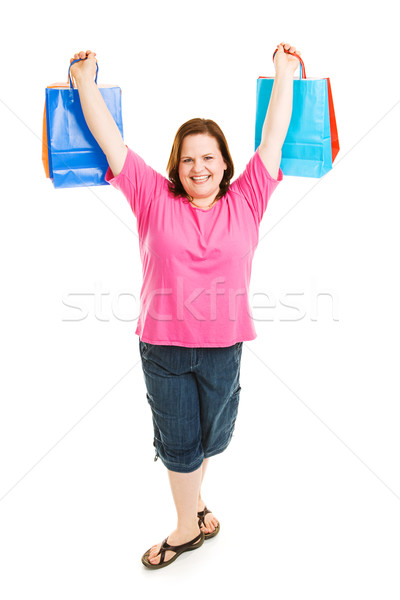 Triumphant Shopper Stock photo © lisafx
