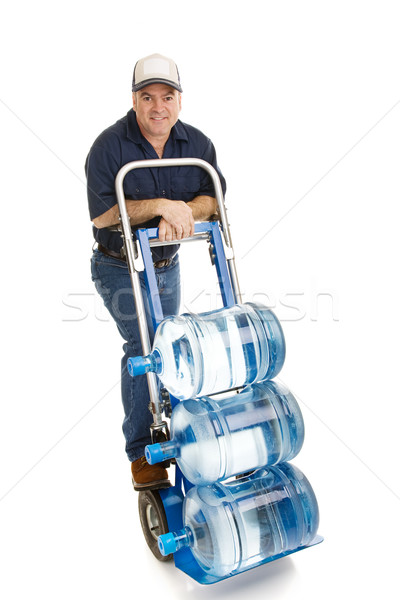 Water Delivery Man - Friendly Stock photo © lisafx