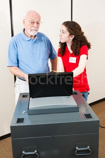 Young Volunteer Helps Voter Stock photo © lisafx