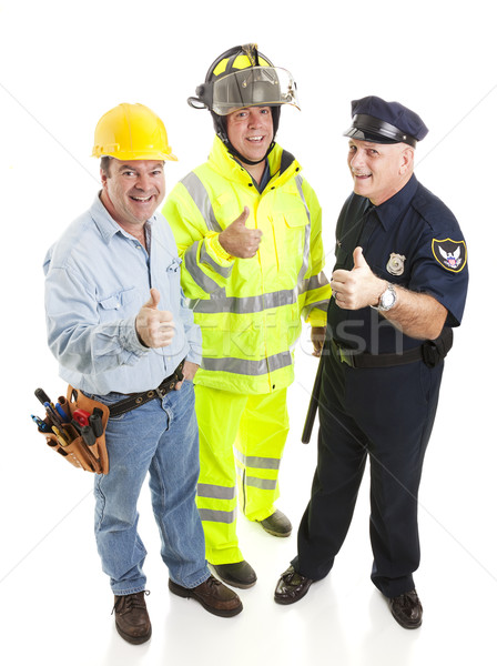 Group of Workers - Thumbsup Stock photo © lisafx