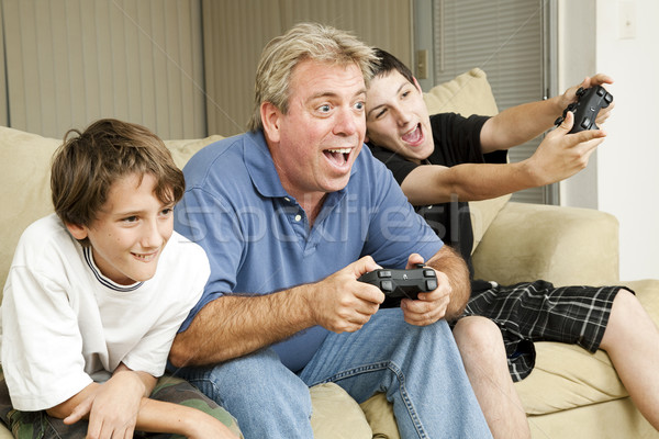 Male Bonding - Video Games Stock photo © lisafx