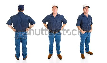 Blue Collar Man - Three Perspectives Stock photo © lisafx