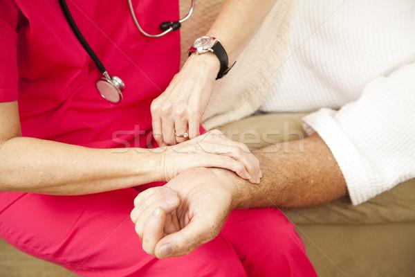 ホーム 健康 看護 パルス クローズアップ ストックフォト © lisafx