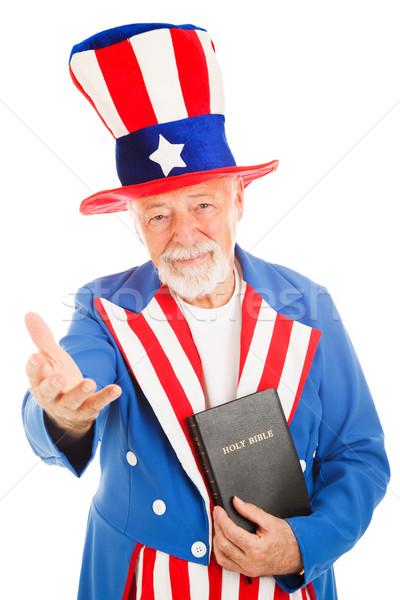 Tío Biblia americano icono Foto stock © lisafx