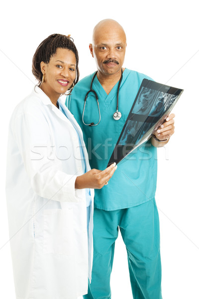 Medical Team With CT Scan Stock photo © lisafx