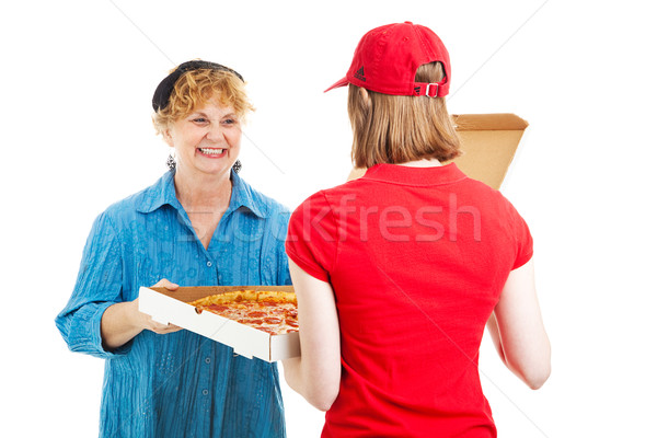 Pizza is Here Stock photo © lisafx