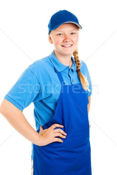 Teenage Worker Hands on Hips Stock photo © lisafx
