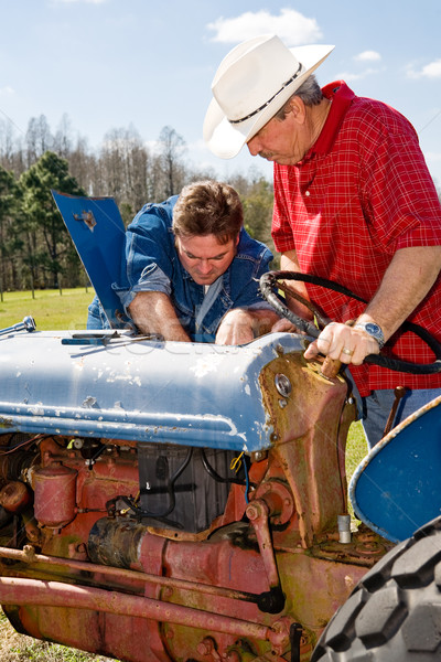 Farm Equipment Maintenance Stock photo © lisafx