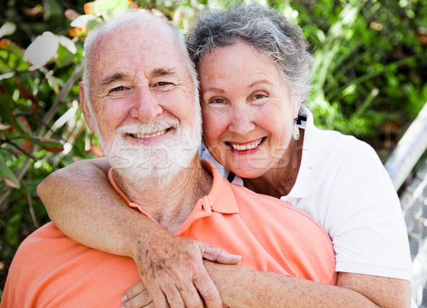 Healthy Happy Senior Couple Stock photo © lisafx