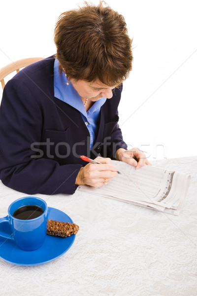 Job Hunting - Doing Research Stock photo © lisafx