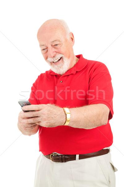 Senior Man Text Messaging Stock photo © lisafx