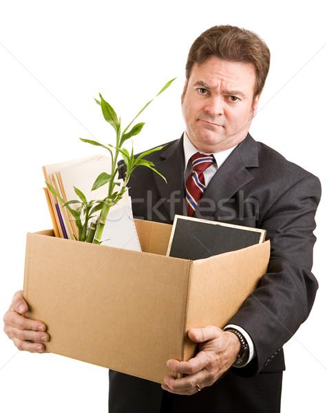 Desempregado executivo empresário isolado Foto stock © lisafx