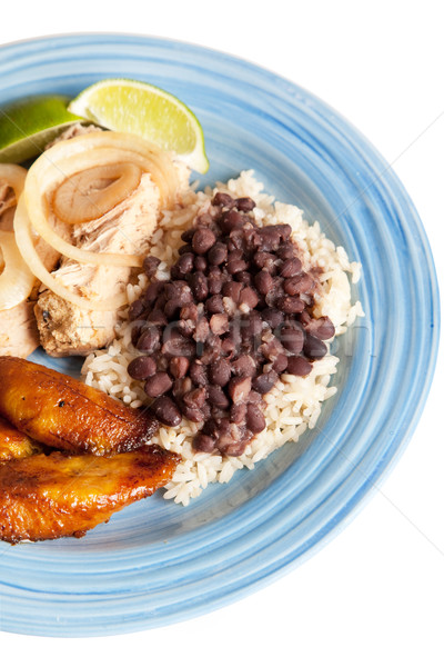 Cuban Food with Path Stock photo © lisafx