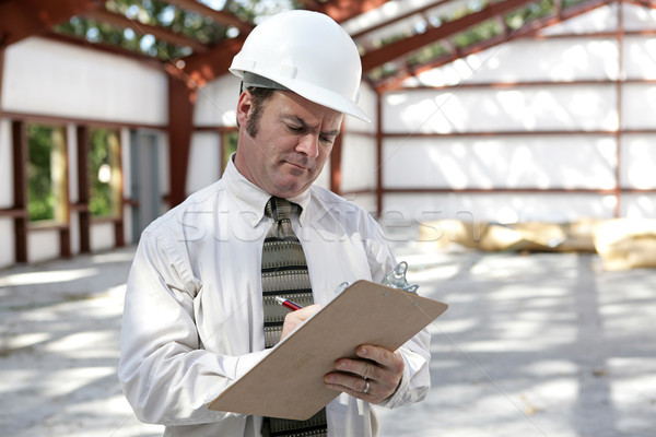 Construction Inspector - Marking Checklist Stock photo © lisafx